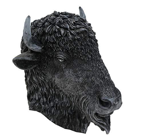Máscara de látex HENGYUTOY con cabeza de vaca de toro, para Navidad, Halloween, disfraces, decoración de fiesta, accesorio para disfraz de vaca toro
