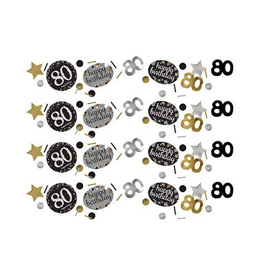 Amscan 361965 - Konfetti 80 Sparkling Celebration, Folie/Papier, 34 g, Streudeko, Tischdekoration, Geburtstag, Happy Birthday
