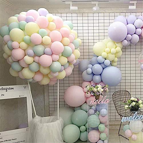 Globos de color pastel pequeños de 10 pulgadas macarón surtidos dulces globos de colores para arco arco iris cumpleaños fiesta suministros decoración globo helio guirnalda torre