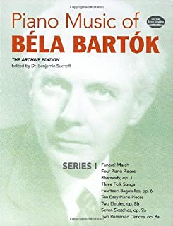 Piano Music of Béla Bartók, Series I: The Archive Edition (Dover Music for Piano)