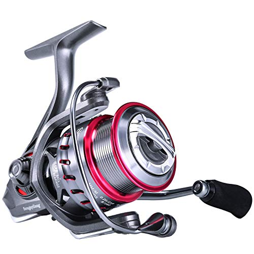 Sougayilang Fishing reels Light Weight Saltwater Spinning Reel 9+1 BB Ultra Smooth All Aluminum Reel for Saltwater or Freshwater-AT1000