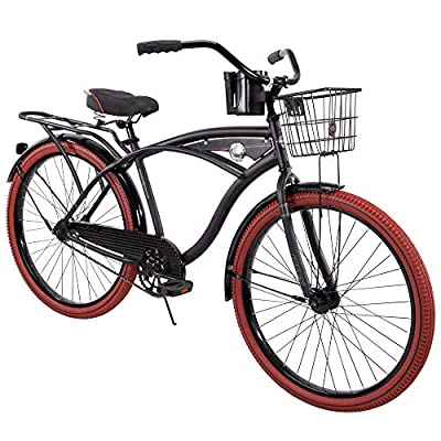 """The Perfect Design Delivers More Comfort, Confidence, and Better Ride 26"""" Men Single-Speed Comfort Cruiser Bike, Matte Black"""