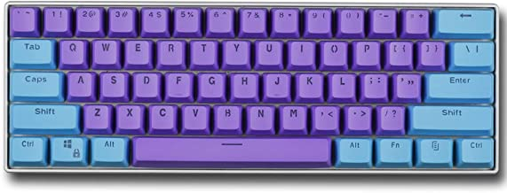 Taide 61 Key ANSI Layout OEM Profile PBT Thick Keycaps for 60% Mechanical Keyboard (Color 13)