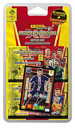 Panini France SA-9 buste + 1 carta edizione limitata FOOT TCG ADRENALYN XL 2019-20, 2526-043