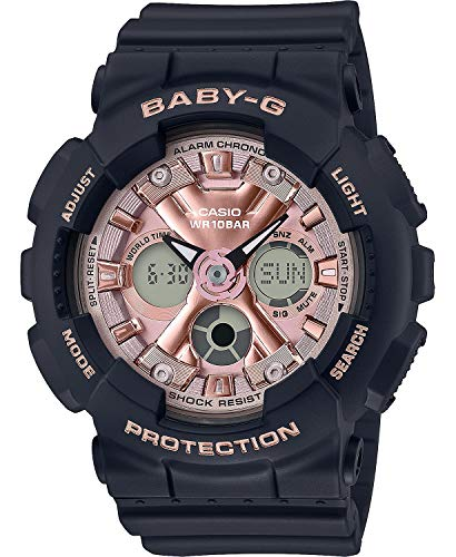 Casio BA130-1A4 Reloj analógico digital de alarma cronógrafo de bebé G para mujer