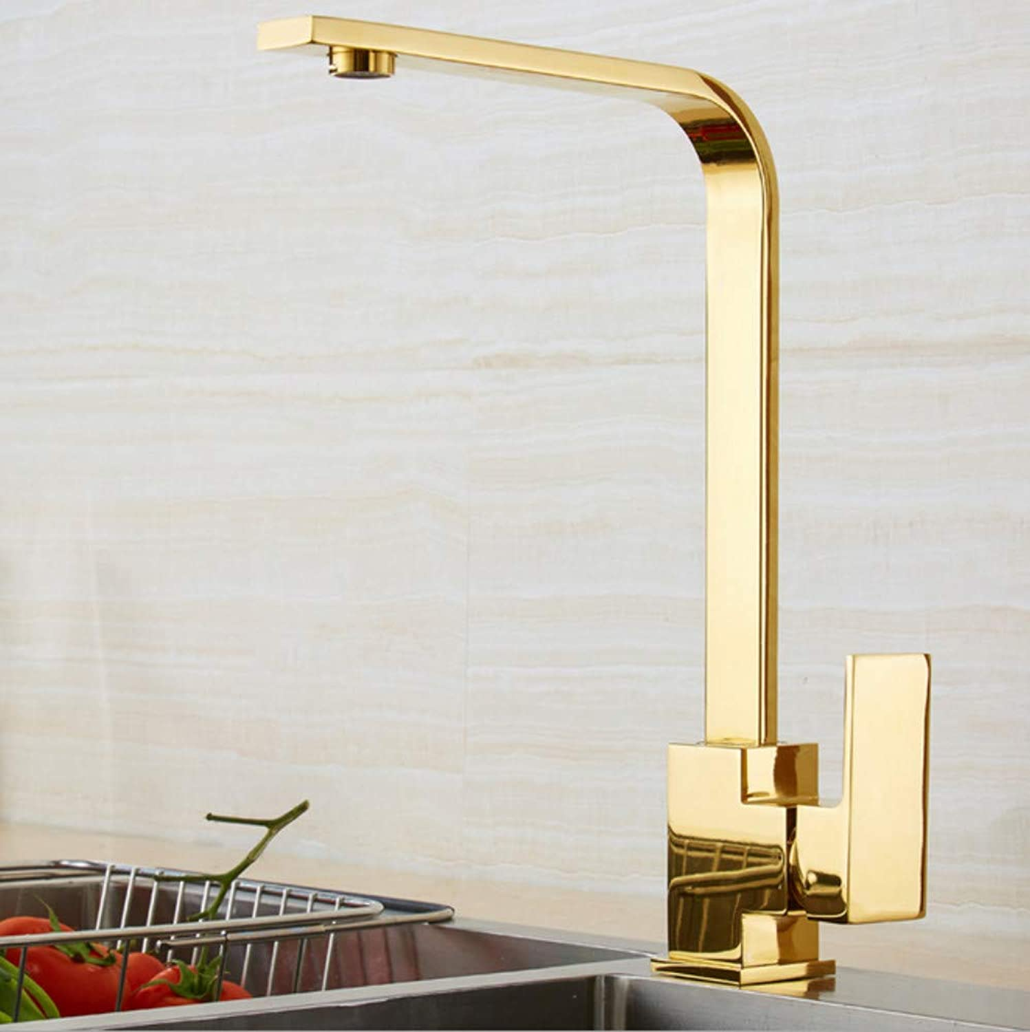 Xiujie Faucet Retro Bathroom Basin Faucet Copper Simple redating Kitchen Sink Hot and Cold Faucet Nordic American