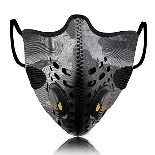 Lioncrown Lazerio Reusable Face Mask With Laser Cut Breathing Technology (Grey)