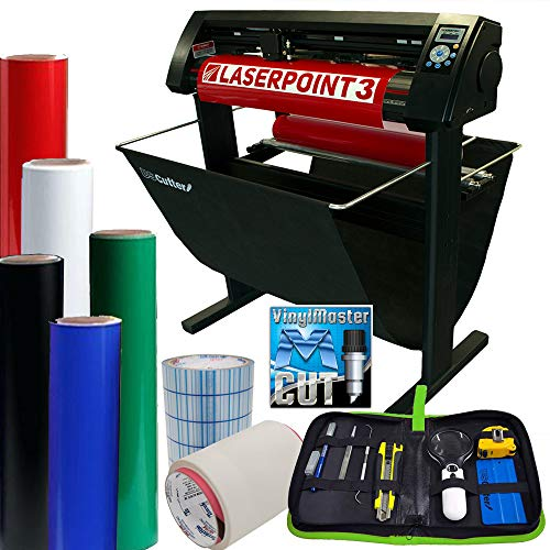 """28"""" LaserPoint 3 Vinyl Cutter Plotter with Contour Cutting, Supplies, Tools (Bundle)"""