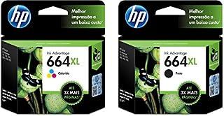 Kit Cartuchos HP 664XL Preto + 664xl Tricolor
