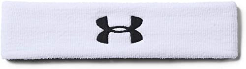 Under Armour UA Performance Headband, Bandeau anti transpiration Homme, Black / White, Einheitsgröße