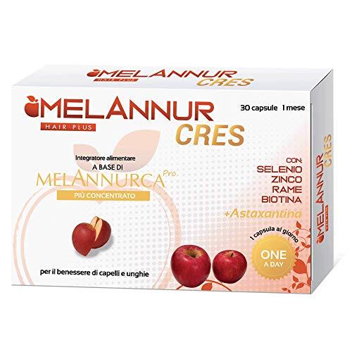 Melanurcress – Elisir para el cabello – 30 cápsulas de 1 mes – con auténtico extracto de manzana Annurca aliada de la salud del cabello | 100% alta calidad
