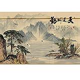LNX - Bambusrollos - Sondergrößen und Muster - Retro - Rollo - Sonnenschutz - Natur - Bambusvorhang - 3-teiliges Set - Teestube/Restaurant