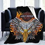 EPIC POETRY Harley Davidson Super Soft and Stylish Blanket Flannel All-Season Living Room, Bedroom Warm Blanket, Used for Bed, Sofa, Sofa, Travel, Camping