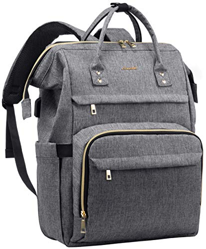 Laptop Backpack for Women Fashion Travel Bags Business Computer Purse Work Bag with USB Port, Grey,...