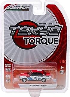 Greenlight 47030-A Tokyo Torque Series 5-1972 Datsun 510 - #93 Valley Datsun 1:64 Scale