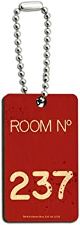 The Shining Room 237 Wood Wooden Rectangle Keychain Key Ring