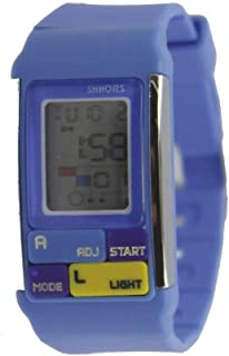 Unisex Rectangular Sports Digital Watch-Blue