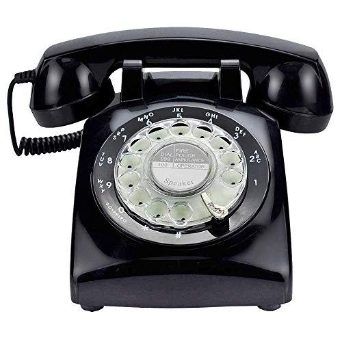 potente para casa LGP Store es una copia del teléfono de la década de 1960.  Clásico retro.  Negro Dial