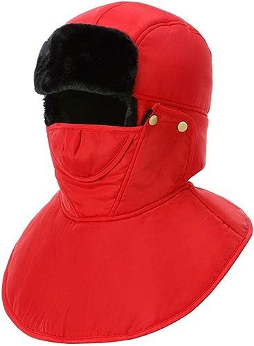 NZDHER Bonnets Homme Ski Wind River Face Mas Hommes Femmes Chapeau Tête Oreilles Bouche Thermique Chapeau d'hiver Chaud Noir
