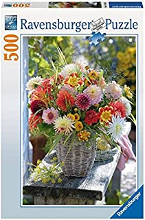 Ravensburger Beautiful Flowers 500 Piece Jigsaw Puzzle for Adults – Every Piece is Unique, Softclick Technology Means Pieces Fit Together Perfectly