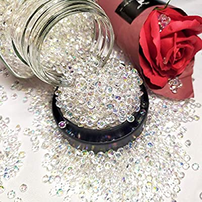 HAVII 4.2mm 10000pcs Acrylic Crystal Diamond Vase Fillers for Wedding Party Table Scatter Crafts DIY Decoration
