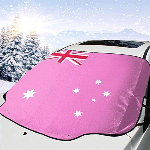 Winddichte Windschutzscheibe Schneedecke Auto Sonnenschutz Visier Homosexuell Stolz Flagge von Australien Winter Frostschutz Protector Alle Fahrzeuge