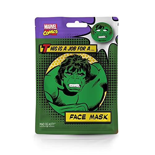 Mad Beauty Marvel Gesichtsmaske Tuchmaske Avengers Hulk- feuchtigkeitsspendende & revitalisierende Tuchmaske für gepflegte Haut und einen schönen Teint