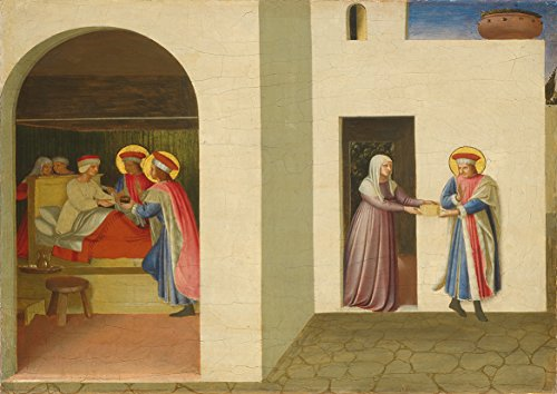 Fra Angelico: The Healing of Palladia by Saint Cosmas and Saint Damian. Fine Art Print/Poster (42cm x 29.7cm)