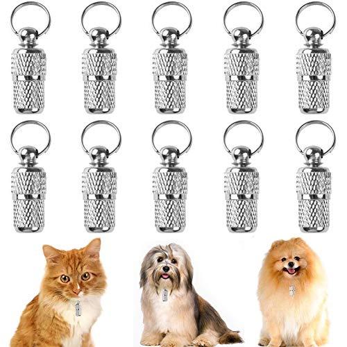 FANDE Etiquetas de Identificación de Mascotas, 10 Piezas Placas de Identificación, Etiquetas de Dirección para identificación de Mascotas para Perro Gato Mascotas