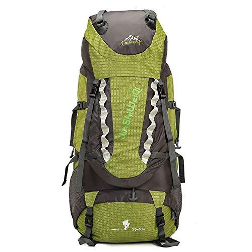 大容量の登山バッグ オックスフォード布製の防水キャンプ用バックパック アウトドアスポーツハイキング用バックパック 折り畳み式軽量バックパック 80Lレジャーキャンプ用サイクリングバックパック
