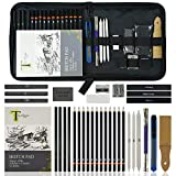 Tavolozza Drawing Art Set, 34 Pack Professional Drawing and Sketch Pencil Set in Soft-Sided Art Portfolio Storage Bags for Kids, Teens and Adults.