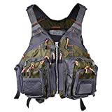 LOOGU Fly Fishing Jacket with Multi-Pockets Adjustable Vest for Men and Women
