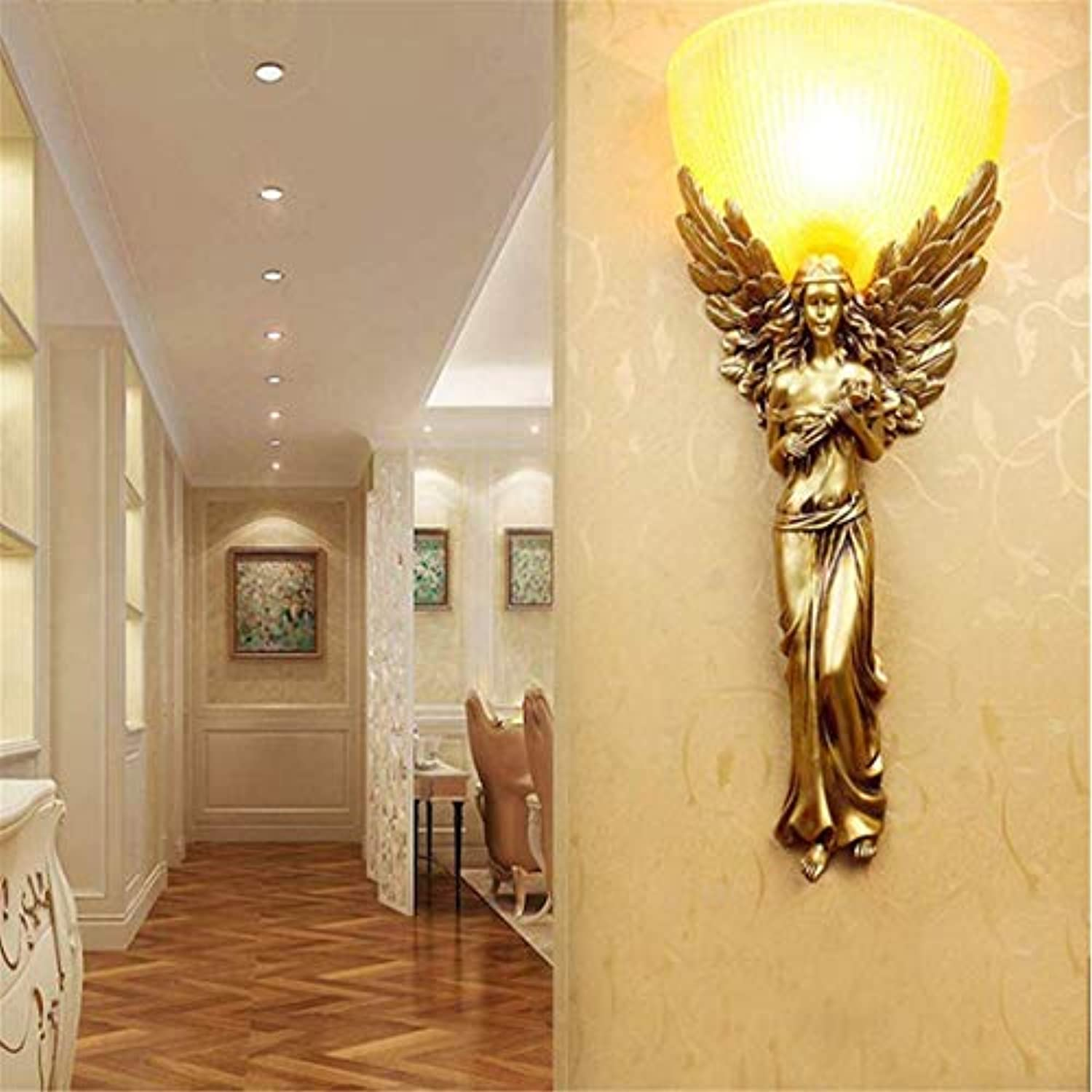Chandelier Wall Lamp Wall Lamp Retro Nordic Living Room Wall Hotel Aisle Creative Led Bedroom Bedside Lamp Personality [Energy Class A++]