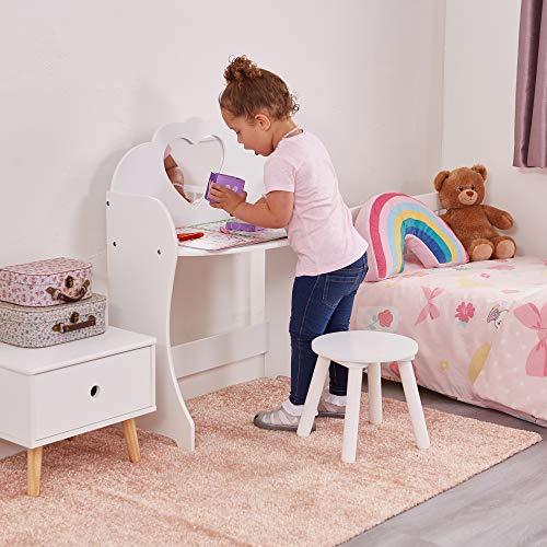 Liberty House Toys Holz Schminktisch & Hocker-Set, Holz, Weiß
