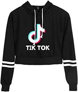 Tik Tok girl woman high waist sweater Tik Tok hoodie fashion trend clothes