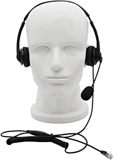 GoodQbuy Call Center Telephone/IP Phone Headset RJ9 Headphone with Mic for Cisco IP Phones 7940 7941 7942 7945 7960 7961 7962 7931G 7962G 7965G and Plantronics M10 M12 Vista Modular Adapters