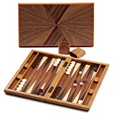 Premium Large Wooden Folding Backgammon Board Game Set
