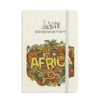 アフリカの土着の部族芸術のパターン 化学手帳クラシックジャーナル日記A 5