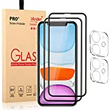 iAnder [2 Pack] Full Screen Protector and [2 Pack] Camera Lens Protector Compatible with iPhone 11 / iPhone XR
