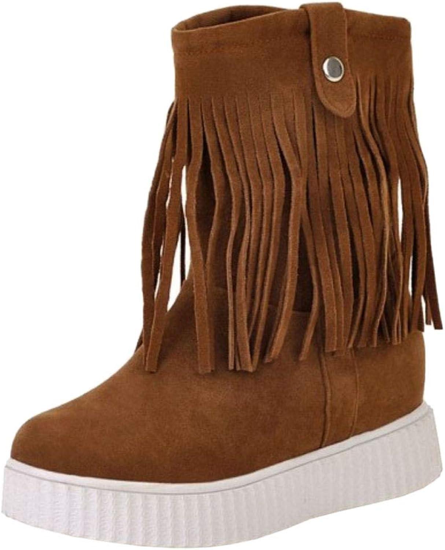 TAOFFEN Women Short Boots Pull On