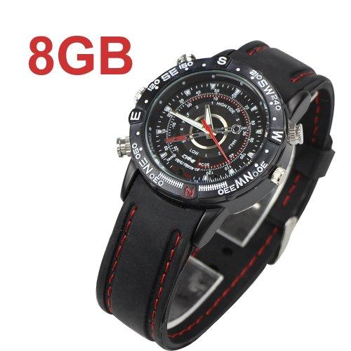 8GB Uhr mit Spionage-Kamera, für Aufnahme von Digitalen Videos, versteckter DVR, Wasserdichter Camcorder