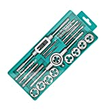 GOOMAND® タップ ダイスセット ネジ穴 ネジ山修復 20pcs 高硬度 タップ レンチ ねじ切りダイス スレッド切削工具