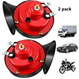 300DB Super Loud Train Horn for Truck Car, 12V Air Electric Snail Horn, Waterproof Double Horn Raging Sound for Car Motorcycle