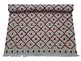 Alfombras de telar de mano de 4 x 6 pies (Durry, alfombra) Característica: 100% algodón lavable reversible (se puede utilizar en ambos lados) Alfombras de algodón azul turquesa