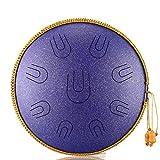 Lengua tambor de acero Instrumentos de percusión de la mano La meditación tambor tanque de tambor de 14 pulgadas 9 Tono re menor de mano de tambor tanque Instrumentos de percusión meditación yoga Leng