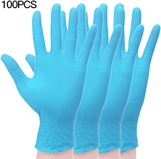 AKDSteel 100pcs/1 pair 9 Inch Disposable Nitrile Rubber Gloves Inspection Experiment Durable Clean Electronic light blue 100pcs