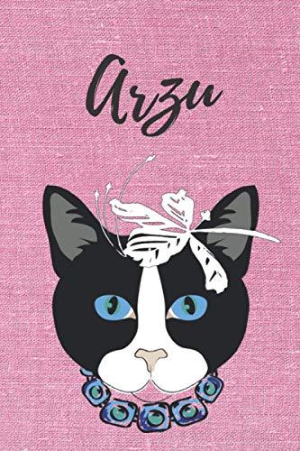 Arzu personalisiertes Notizbuch Katze / Notizheft / Journal / Malbuch / Tagebuch / Kritzelbuch / DIN A5 / Geburtstagsgeschenk: individuelles ... Weihnachts & Geburtstags Geschenk für Frauen.