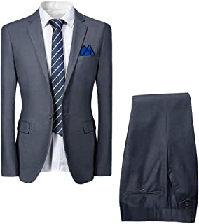 Allthemen Slim Fit 2-Teilig Herren Anzug für Hochzeit Party