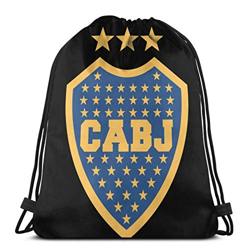 Mochilas con Cordón Escudo del Club Atletico Boca Juniors Unisex Drawstring Backpack Sports Bag Rope Bag Big Bag Drawstring Tote Bag Gym Backpack In Bulk