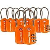 Cadenas de Voyage à Combinaison certifié TSA pour valises et Sacs à Dos - Paquet de 10 Cadenas TSA Orange